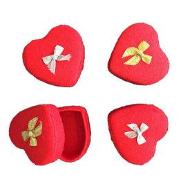 . TH762 Ensemble de 4 boîtes en forme de coeur