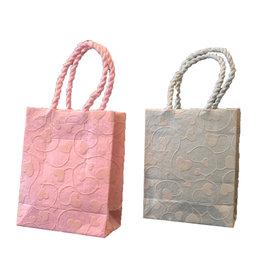 TH036 petit sac impression petits coeurs poignee 6 pc