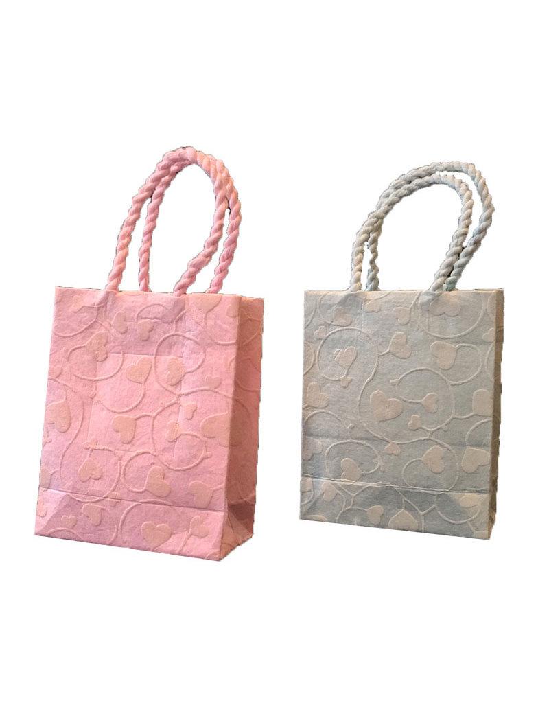 Mini bag hearts twisted handle set of 6
