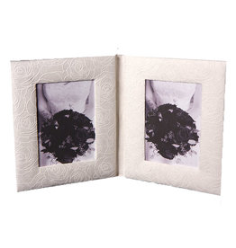 TH030 Double photoframe outlined roses