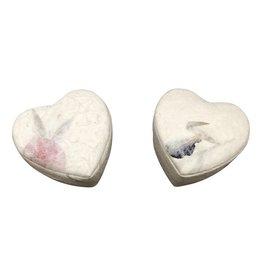 TH699 Herzformige Schachtel Maulbeerpapier mit Blumen