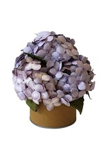Handgefertige Blueten in einem Blumentopf .