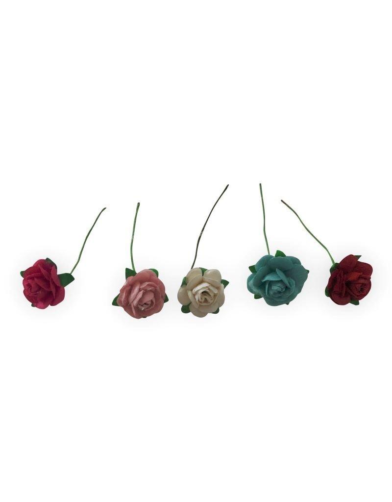 Set 100 bloemetjes van mulberrypapier S
