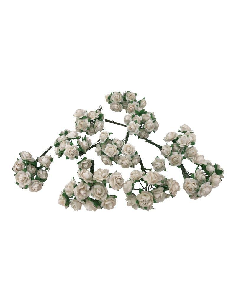 Set 50 bloemetjes van mulberrypapier M