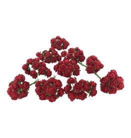 TH407 Set 100 Blumen aus Maulbeerpapier M