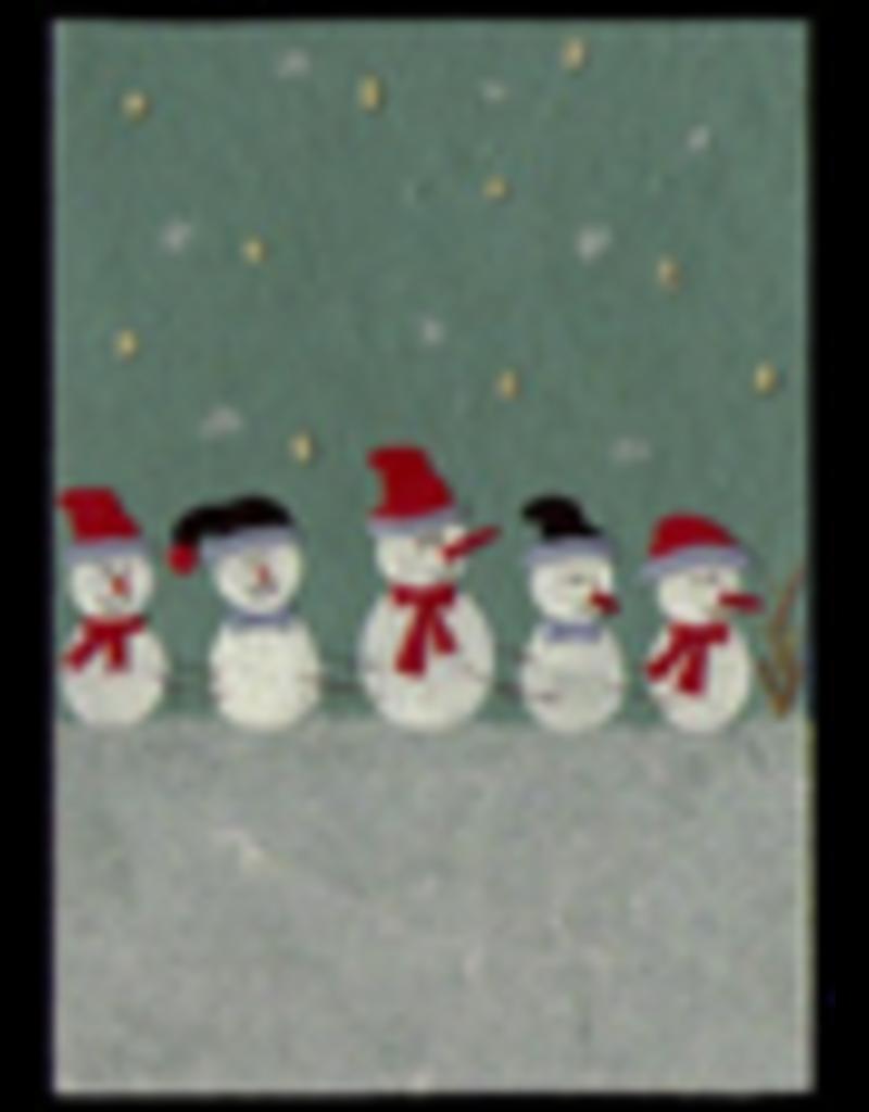 . Set 6 Kaarten/enveloppen met Kerstdessin