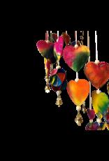 Mobile colourfull hearts