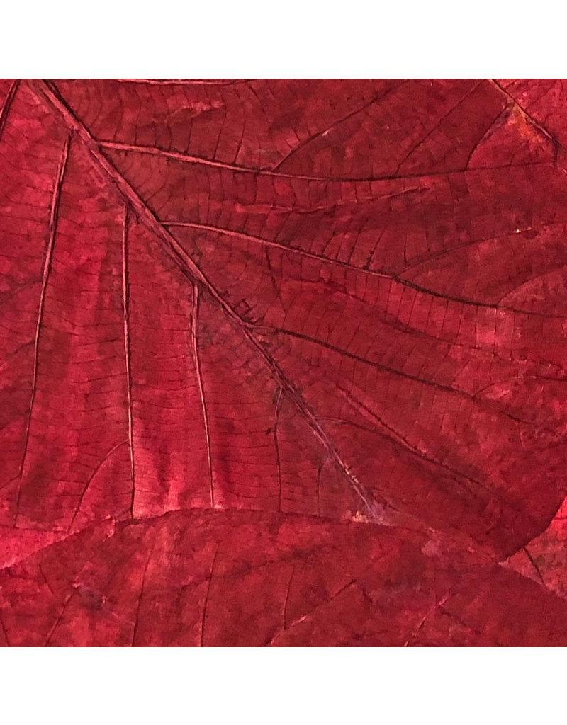Mulberrypapier met teak bladeren