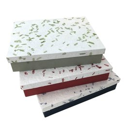 TH391 Storage box mulberry paper/ tamarind leaf