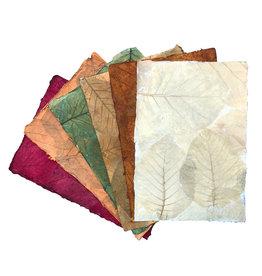 TH845 Mulberrypapier met teak bladeren
