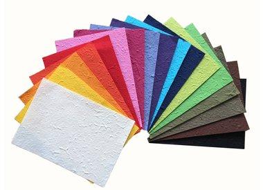 Papier de mûrier couleur unie