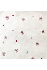 Gampi paper with trivia flowers, 90 grs
