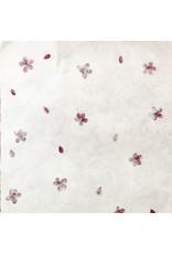 Gampi-Papier mit Trivia-Blüten, 90 grs