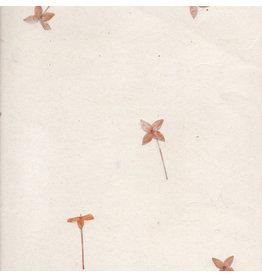PN265 Gampi paper with santan flowers