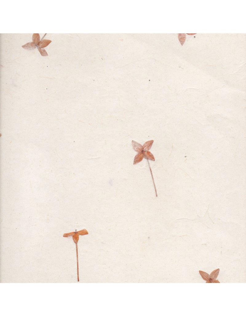 Papier gampi avec fleurs de santan, 90 grs