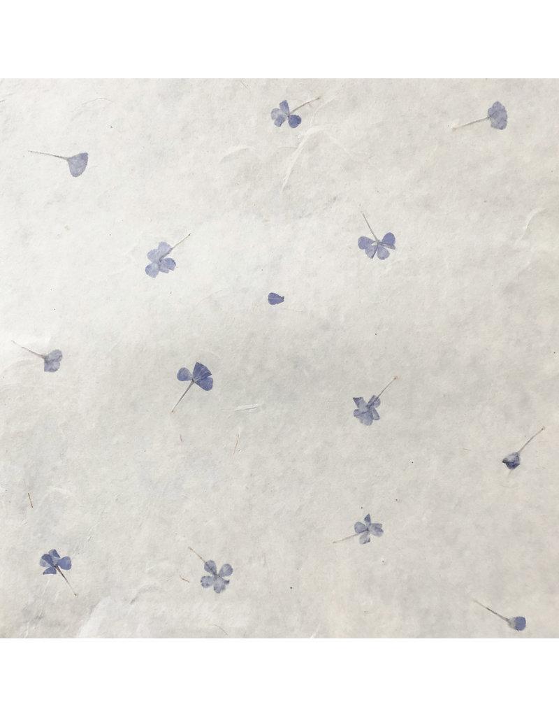 Gampi papier met vergeet-me-nietjes, 90 grs