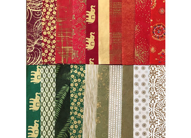 Lokta paper with gold or silver print