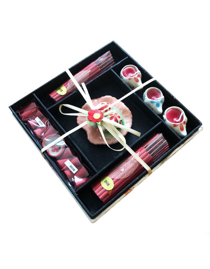 Emballage cadeau d'encens et de bougies
