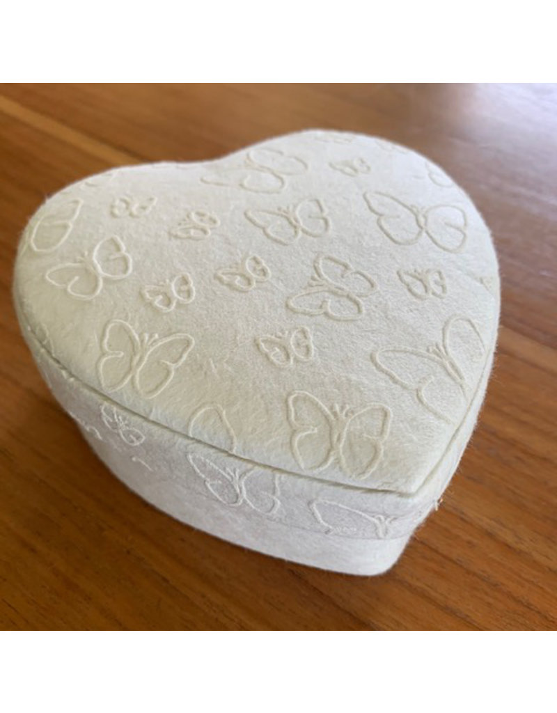 Heartshape box with butterfly print