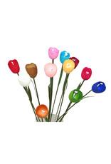 Set 12 bloemen van zijde cocons