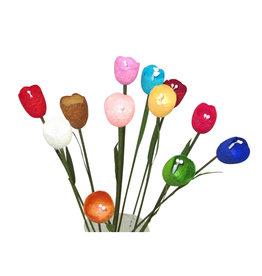 TH337 Set 12 fleurs en cocons de soie