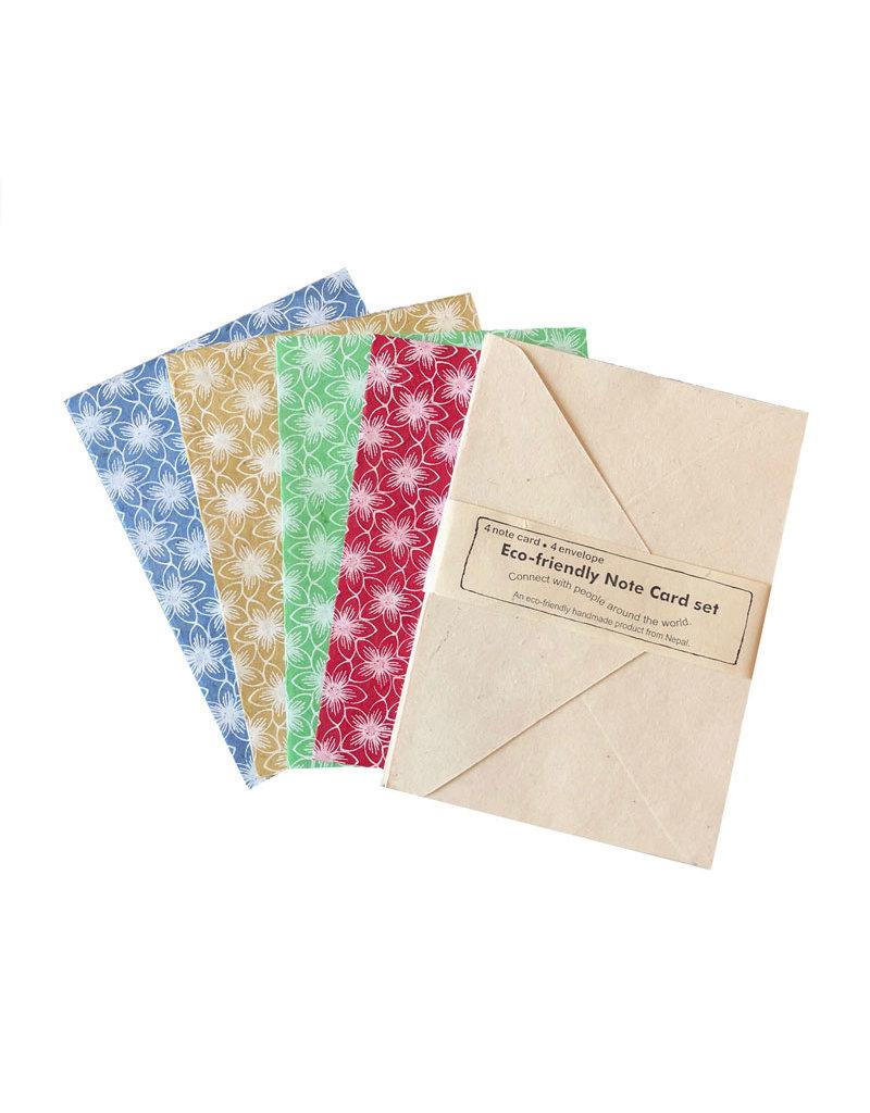 Set of 4 cards/flowerprint