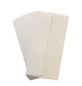 A5021 Set von 20 Umschlägen Gampi Papier  11x22cm