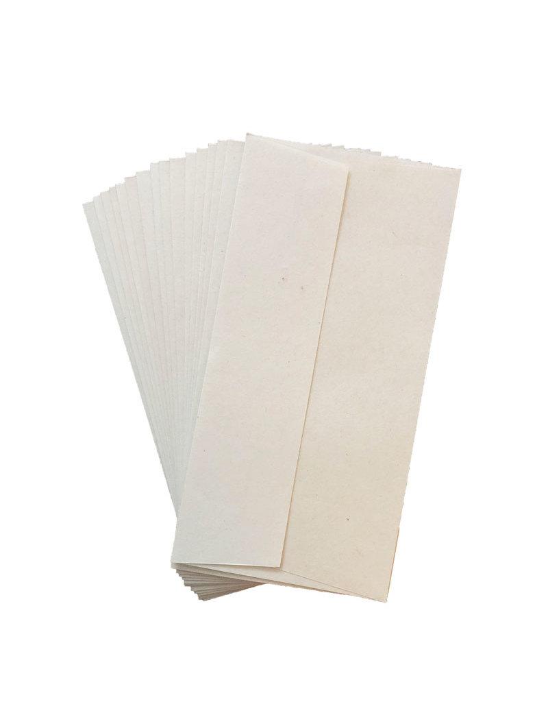 Ensemble de 20 enveloppes papier Gampi 11x22cm
