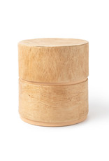 . Eco urn brown lined with tree bark