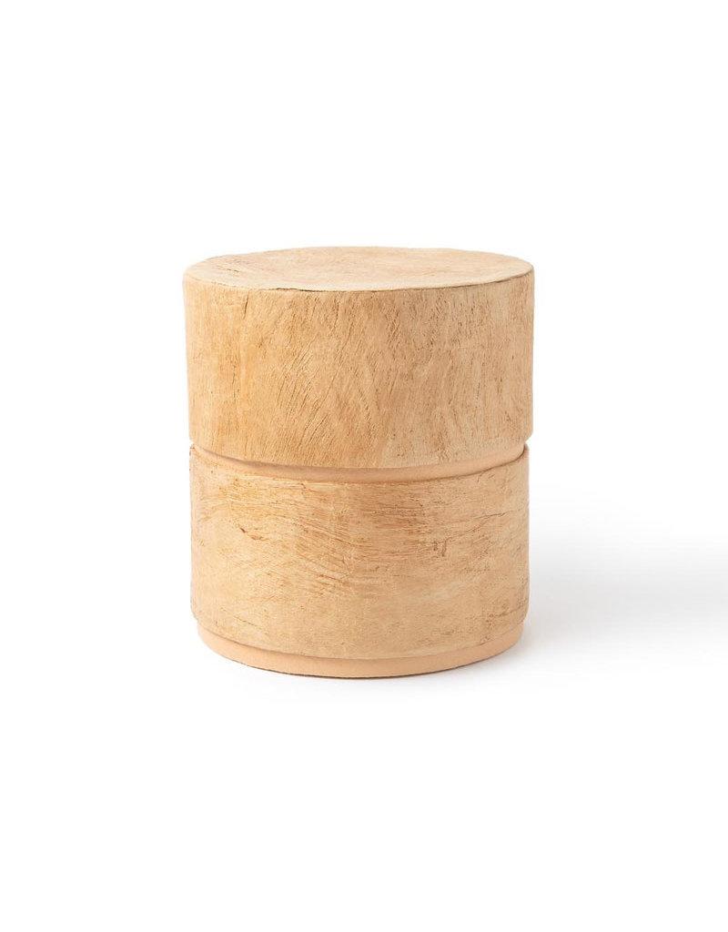 . Öko-Urne braun mit Baumrinde ausgekleidet