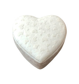 TH441 Heartshape box with white hearts print