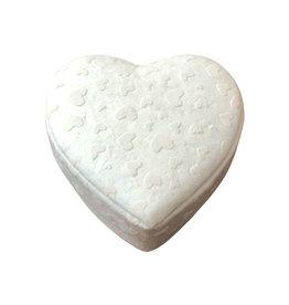 TH441 petite boîte en forme de coeur impression petits coeurs