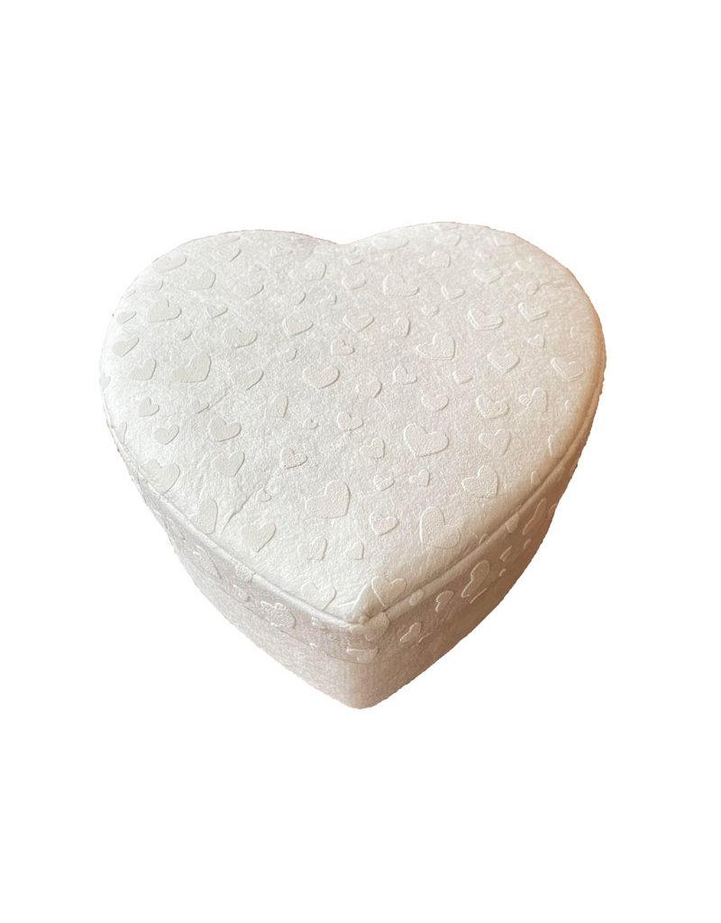 Hartvormig doosje hartjes print