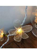. Lichterkette Skelettblatt-Blumen