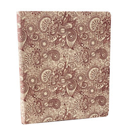 NE351 Guestbook lokta paper with floral print
