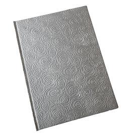 AE937 Gastenboek met rozen reliëf print