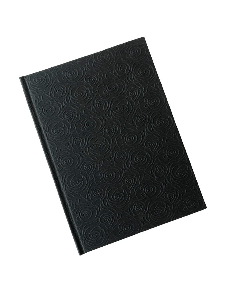Gastenboek met rozen reliëf print