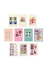 Set 10 Kaarten/enveloppen met bloemen