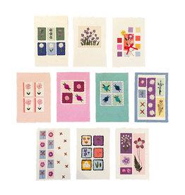 PN295 Set 10 Kaarten/enveloppen met bloemen