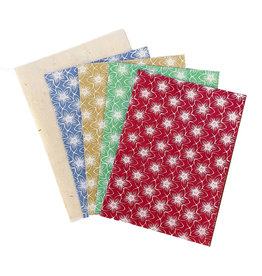 NE506 Set of 4 cards/flowerprint