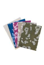 Ensemble de 4 cartes/fleurs japonais