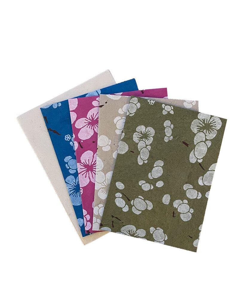 Set of 4 cards/japanese flowerprint