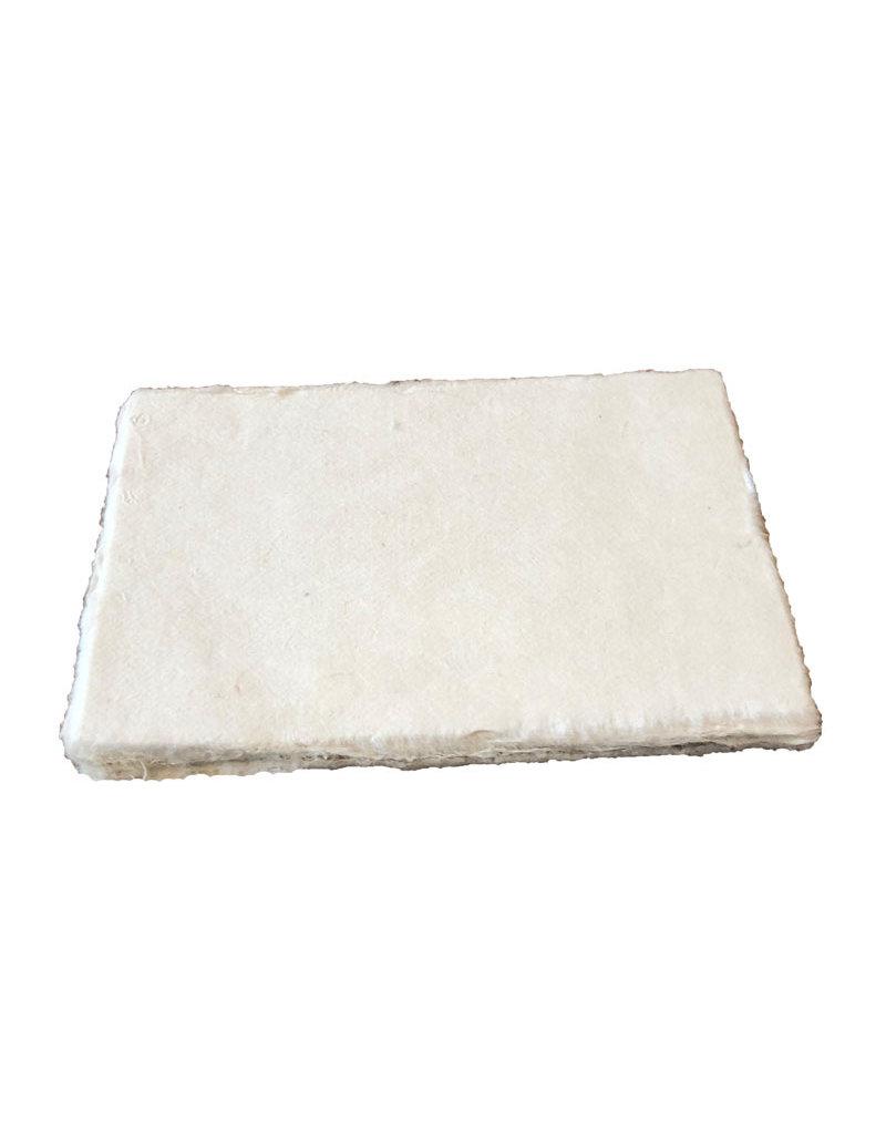 Set de 25 cartes en papier mûrier, avec bord à frette, 100gr