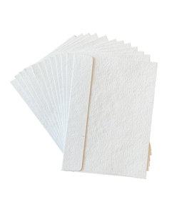 A5003 25 Umschläge Baumwollepapier Silberfasern 14.5 x 21 cm