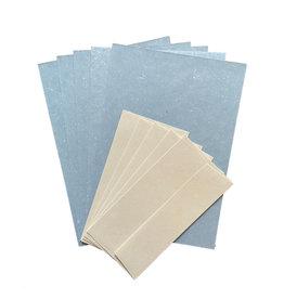 PN224 Set Schreibpapier Gampi, 5 Blatt/5 Umschlaege