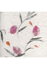 Papier mulberry avec fleurs