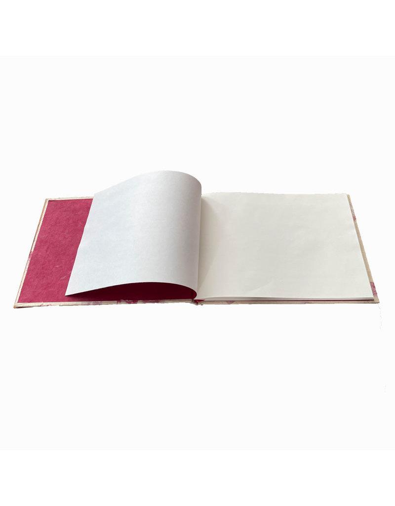 Gastenboek lokta met bloem.