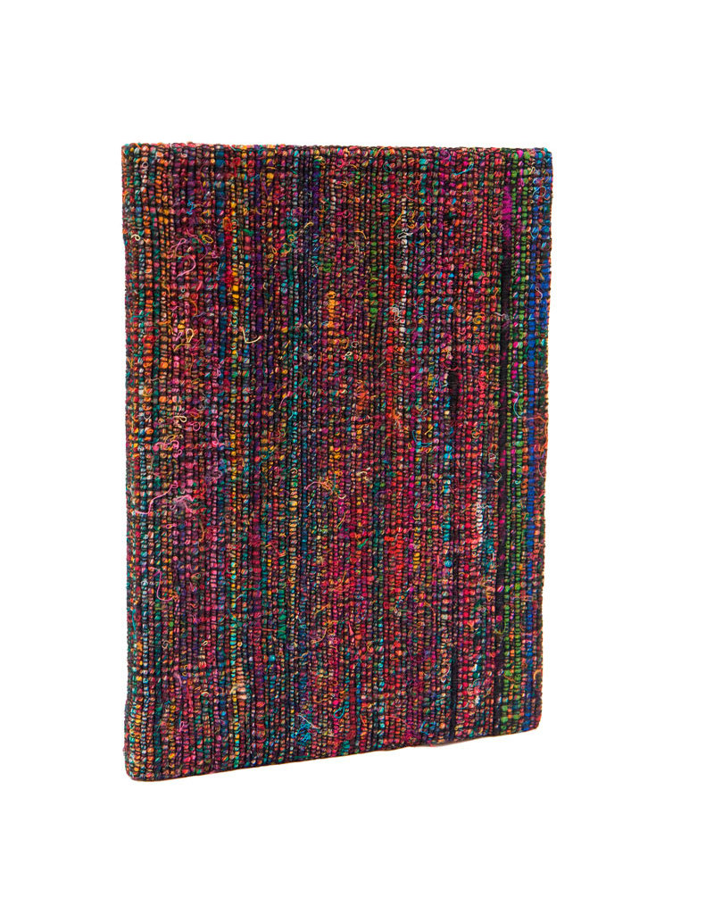 Notebook cover of handwoven fabric