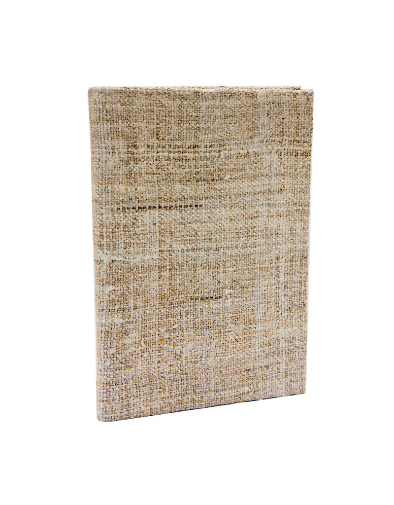Notebook met stof omslag