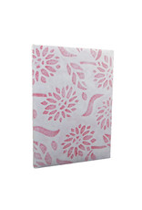 Notebook mulberry 'Sunflower' with lace cover